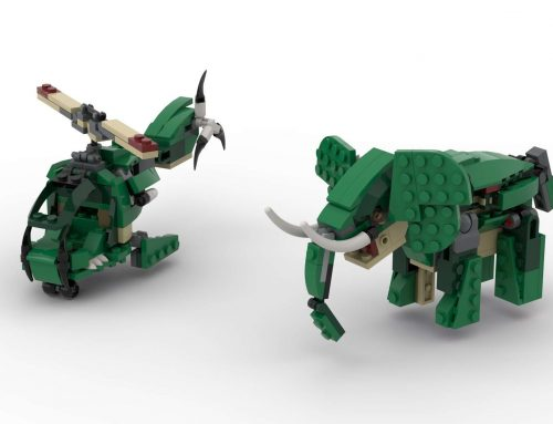 Building an Elephant and a Helicopter from the LEGO Creator Mighty Dinosaurs Set